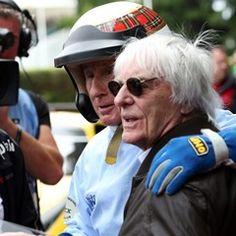 Bernie Ecclestone greets Sir Jackie Stewart at the Goodwood Festival of Speed