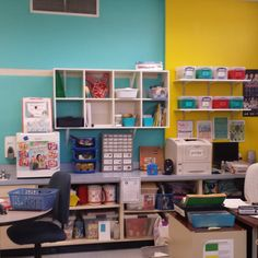 I Am What I Teach: Organizing Supplies - Wall mounting shelves for more storage space!