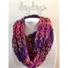 bloom chunky knit infinity scarf by DayDays on Etsy, $30.00