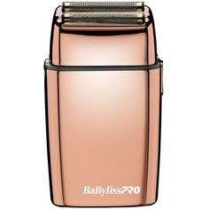 Professional, full-size metal foil shaver equipped with a powerful rotary motor. A great tool for an extra-close shave on the neck, face, and all around the hairline. Babyliss For Men, Braun Shaver, Foil Shaver, Barber Supplies, Close Shave, Nail Supply, Beauty Supply, Gold Foil, Rose Gold