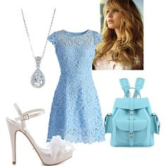 "#DiamondPendant from #JRDunn in ""Anastasia"" by summerblu on Polyvore"