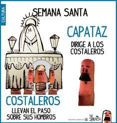 Los costaleros y el capataz, cofradías, procesión Semana Santa Sevilla