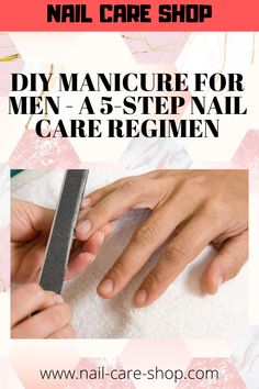 Many men balk at the idea of having their nails done by a manicurist, others just couldn't care to have their nails cleaned. Diy Pedicure, Pedicure At Home, Nails At Home, Manicure Steps, Manicure And Pedicure, Diy Nails, Mens Nails, Nail Care Tips, Clean Nails