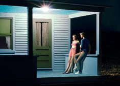 Edward Hopper by Laetitia Molenaar (Here Comes The Sun) I'm a fan of Edward Hopper ,really nice photos Summer Evening, 1947 and. Edward Hopper Paintings, Photo Polaroid, Cardboard Model, House In Nature, Laetitia, Celebrity Travel, Grand Palais, Urban Life, Summer Evening