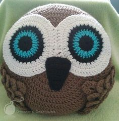 (4) Name: 'Crocheting : Owl Pillow