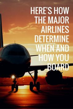 Here's How the Major Airlines Determine When and How You Board