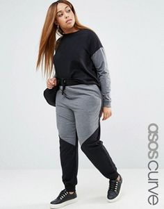 Find the best selection of ASOS CURVE Contrast Jogger Co-Ord. Shop today with free delivery and returns (Ts&Cs apply) with ASOS! Plus Size Legging Outfits, Plus Size Leggings, Plus Size Outfits, Plus Size Fashion For Women, Plus Size Womens Clothing, Clothes For Women, Women's Clothing, Sporty Chic, Plus Size Fall