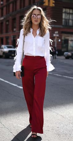 Wide-leg satin pants
