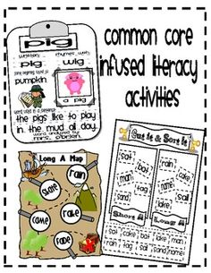 Great for Literacy Centers in a Kindergarten classroom! All activities align with the Common Core Standards and are fun as well as educational! :)