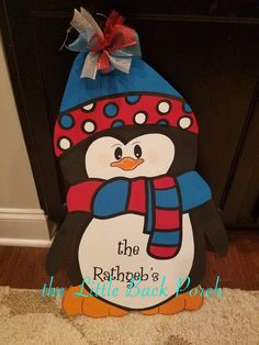 Penguin -$35 Choose your colors and lettering!