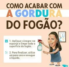 Eliminando a gordura do fogão Weekly Cleaning, House Cleaning Tips, Cleaning Hacks, Home Temple, Housekeeping Tips, Flylady, Desperate Housewives, Cleaning Solutions, Home Hacks