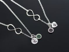 Initial Necklace Custom infinity necklace Initial and by MonyArt, $33.80