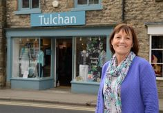 Michele Needham stands outside the new Tulchan store in Helmsley