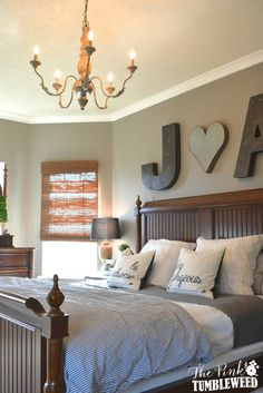 Master Bedroom: I am loving this whole bedroom. So relaxing!