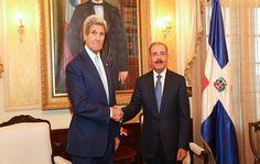 Danilo Medina recibe al Secretario de Estado de Estados Unidos, John F. Kerry