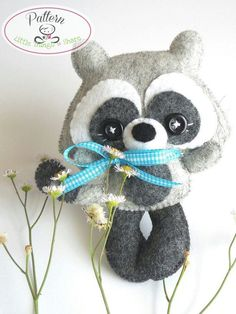 Stripes Raccoon PDF pattern-Woodland by LittleThingsToShare