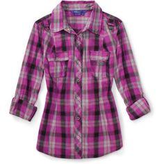 Miley Cyrus & Max Azria - Juniors' Tab-Sleeve Shirt, Multicolor
