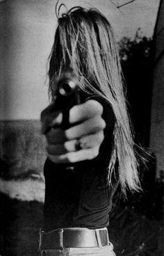 guns-and-babes: Babe with gun Baby Shots, Badass Women, White Photography, Anastasia, Character Inspiration, Mafia, Girly, Thing 1, Long Hair Styles