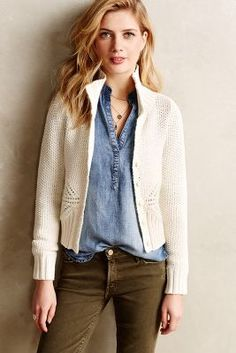 Olwen Knit Bomber #Anthropologie