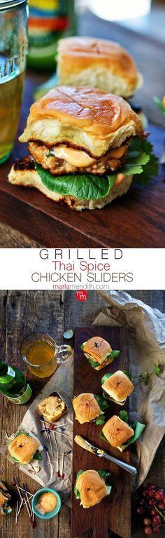 Grilled Thai Spice Chicken Sliders (Breakfast Sliders)