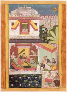Gujari Ragini. Opaque watercolor on paper, Mewar, Rajasthan, Northern India, ca. 1700