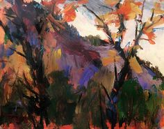 Impressionist Fall Landscape Painting by RussPotakArtist on Etsy