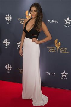 Shay Mitchell arrives at the 2014 Canadian Screen Awards in Toronto on March 9, 2014.