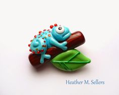 Just Hanging Around with this silly little lizard created by Heather Sellers,