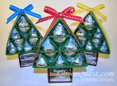 Hershey kiss Christmas trees!
