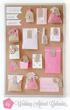 SomethingTurquoise DIY how to make wedding advent calendar