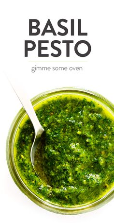Learn how to make pesto with this classic Italian basil pesto recipe. It's easy to make in the blender or food processor, and perfect for using as a sauce for pasta, pizza, chicken, potatoes...you name it! | Gimme Some Oven #pesto #sauce #italian #recipe #dinner