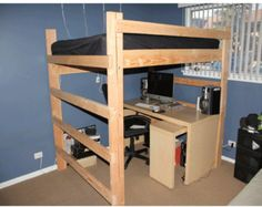 Smart Black King Size Loft Bed for Couples | HOME: Room Within A ...
