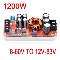 1200W 20A DC-DC Converter Boost Power Supply Module 8-60V Step-up TO 12V-83V 24v 48V 19V 72V Voltage Regulated //Price: $20.98//     #Gadget