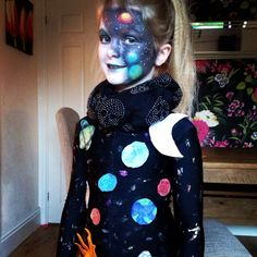 Space solar system costume and makeup by me
