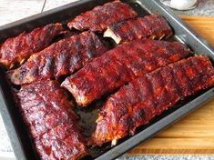 Greetings from the witch& kitchen: Probably the world& best barbecue ribs! - Greetings from the witch& kitchen: Probably the world& best barbecue ribs! Smoked Beef Brisket, Smoked Pork, Grilling Recipes, Meat Recipes, Cooking Recipes, Spareribs, Grill Party, Barbecue Ribs, Good Food