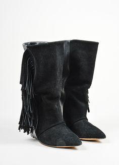 Isabel Marant Fringe Mid-Calf Boots clearance high quality GI2HH