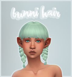 """chiefwhiskers:  """" Bunni Hair This hair is another one of those things where I had a love hate relationship with EA's double braids. So, I decided to completely revamp them, and add some bangs. Comes in @wildlyminiaturesandwich colors and EA colors. I..."""
