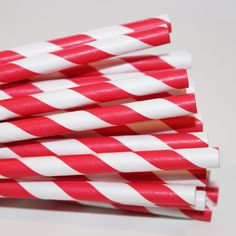 Striped Paper Straws from The Paper Diva will add a festive touch to your drink of choice!