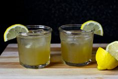 vermontucky lemonade-- lemons, bourbon, maple syrup! yum.