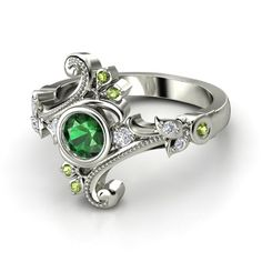 Slytherin ring. Would be pretty w diamonds or sapphire
