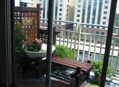 Water feature at balcony