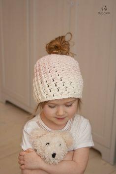 CROCHET PATTERN ombre bun hat Susan toddler child by MukiCrafts