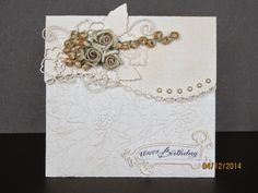 Ligaya's Creativity Zone: Spellbinders Card - (Borderabilities) Curved Borders One Birthday Card