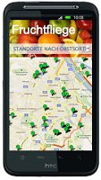 Fruchtfliege ist eine WebApp für alle gängigen Smartphones. Sie zeigt den Weg zum nächsten Fruchtgenuß.