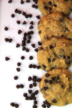 Coconut Flour Chocolate Chip Cookies - i simply have to replace sugar with honey to make it paleo