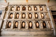 The Hall of Faces from The House of Black and White will come to life featuring plastic molds of Drink Company's employees, friends and family. Photo courtesy of Farrah Skeiky/Dim Sum Media.