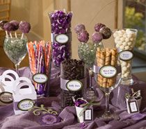 Cute candy buffet idea from dollartree.com... Love inexpensive ideas that look fantastic!