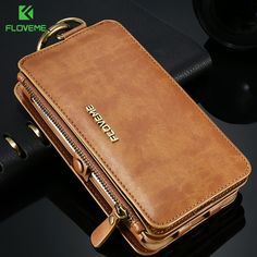 FLOVEME Luxury Retro Wallet Phone Cases For Apple iPhone 7 6 6s Plus Cover Leather Handbag Bag Cover for iphone7 6 6s Case Coque #Affiliate