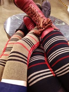 A quick snap of some of our upcoming plaid OTKs! The stretch isn't quite as good as some of our other Dreamer styles, but they still go over the knees on a variety of leg sizes!