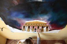 Masseria La Morella: opere artistiche permanenti degli studenti della LABA di Firenze.